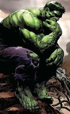 Big thinking Hulk by Luke Ross