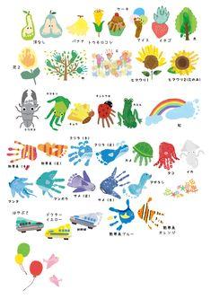 手形(足形)アートでの制作 | ラクガキアートパネルのチルアート Hand Crafts For Kids, Fathers Day Crafts, Baby Crafts, Art For Kids, Baby Footprint Crafts, Fingerprint Crafts, Toddler Art, Toddler Crafts, Preschool Crafts