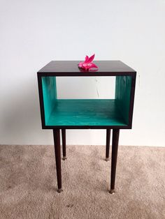 The Side Table... MCM Mid Century Modern furniture end table bedside table   on Etsy, $175.00
