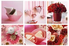 Adorable details, candy and tulip centerpiece, bon-bon filled hearts!