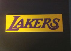 Los Angels Lakers 3 in x 9 in Name Plate made with Duck Brand Duct Tape