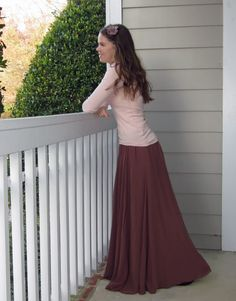 Elegant and free-flowing! Definitely a great way to instill modest dress habits in younger women.