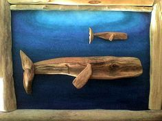 Cetacea Whales by stewys on Etsy, Driftwood Fish, Painted Driftwood, Deco Marine, Driftwood Projects, Sea Glass Art, Beach Crafts, Ocean Art, Fish Art, Nature Crafts