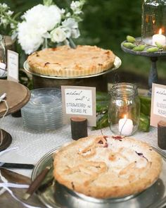 Love this.. family and friends making signature desserts for your dessert buffet. I would use this more for engagement party or wedding rehearsal dinner. Cheap and classy.