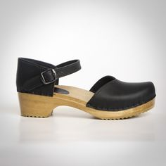 Closed Heel Clogs - Mary Jane - Swedish Base - Sven Style # 184-113