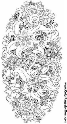 Flower Abstract Doodle Zentangle ZenDoodle Paisley Coloring pages colouring adult detailed advanced printable Kleuren voor volwassenen coloriage pour adulte anti-stress kleurplaat voor volwassenen