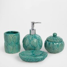 BLUE CERAMIC BATHROOM SET - Accessories - Bathroom | Zara Home Turkey