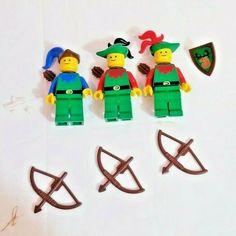 LEGO LOT OF 10 BROWN MINIFIGURE BOW PIECES ARCHER CASTLE FORESTMEN VINTAGE PARTS