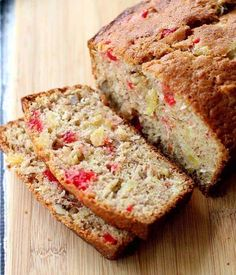 Looking for Fast & Easy Bread Recipes, Breakfast Recipes! Recipechart has over free recipes for you to browse. Find more recipes like Hawaiian Banana Nut Bread. Cherry Bread, Fruit Bread, Banana Nut Bread, Dessert Bread, Dessert Recipes, Bread Cake, Fruit Recipes, Fall Recipes, Drink Recipes