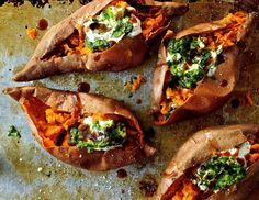 lieslicious: Baked sweet potatoes with salsa verde and chipotle...