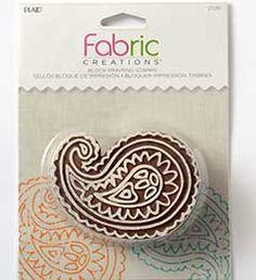 Fabric+Creations™+Block+Printing+Stamps+-+Medium+-+Paisley