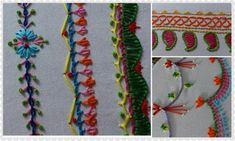 Hand embroidery stitches tutorial for beginners ~ Crazzy Craft
