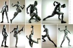 "Superhero Action Poses | great for ""superhero""-poses and kitbashes, innit? altho the shoes-for ..."