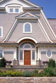 Home exterior, - beautiful windows, shingles