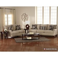 Marion Casual Styled Living Room Sofa with Beige Upholstery from Coaster Furniture