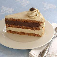 Hazelnut Almond Mocha Dacquoise Meringue Cake | CraftyBaking | Formerly Baking911