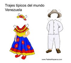 venezuela * 1500 free paper dolls at Arielle Gabriels The International Paper Doll Society also free China paper dolls The China Adventures of Arielle Gabriel * School Projects, Projects For Kids, Crafts For Kids, Multicultural Activities, Activities For Kids, Costumes Around The World, Kids Around The World, Paper Toys, Free Paper