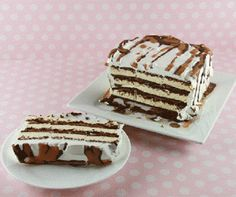 Ice Cream Sandwich Cake...I make this in a 13x9 pan.... Very good