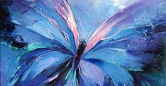Abstract Butterfly Paintings   Butterfly blue, Abstract, art, blue butterfly, clouds, pink