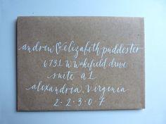 MODERN SCRIPT Calligraphy Envelope by perchpapercompany on Etsy