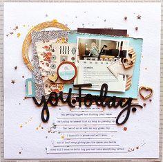 #papercraft #scrapbook #layout  Sketchy Saturday Winner! Jennifer McMurtrey