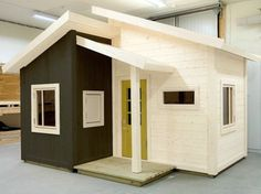 A Dream playhouse. Exclusive, beautiful and elegant playhouses House Fence Design, Shed Design, Tiny House Design, Cubby Houses, Play Houses, Modern Playhouse, Studio Shed, Woodland House, Small Buildings