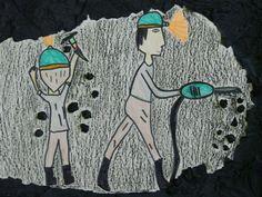 Znalezione obrazy dla zapytania górnik praca plastyczna School