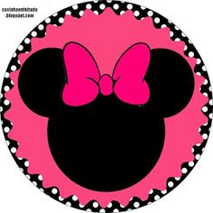 Kit Party Minnie Rose Black and Pink Toodles Mickey Mouse, Minnie Mouse Clubhouse, Mickey E Minnie Mouse, Mickey Party, Minnie Mouse Template, Scrapbook Da Disney, Disney Frames, Mini Mouse, Tags