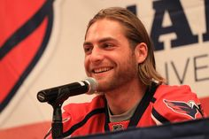 #Holtby at #CapsCon.  Pic is great, even hotter in person. ;)  I entered the Pin a Moment to Win a Moment contest with my top moment of the 2013-14 Capitals season. #ScarletCapsMoments