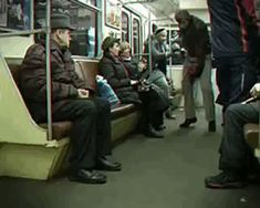 Crazy Russian Rides A Fire Extinguisher In The Subway