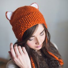 Hey, I found this really awesome Etsy listing at https://www.etsy.com/ca/listing/225061171/hand-knit-fox-chunky-hat-animal-beanie