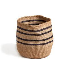 far & wide collective / black striped basket