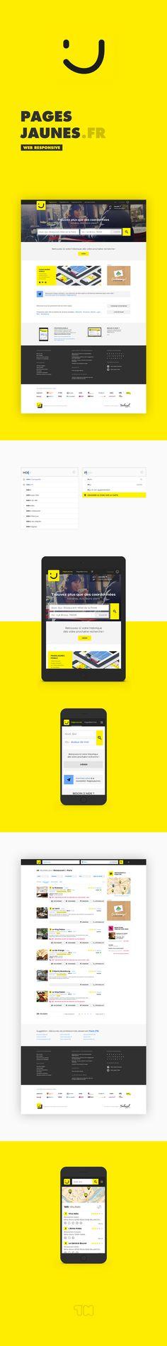 Découvrez mon projet @Behance: «PagesJaunes.fr» https://www.behance.net/gallery/41013559/PagesJaunesfr  UI Design / Redesign website Yellow Pages France