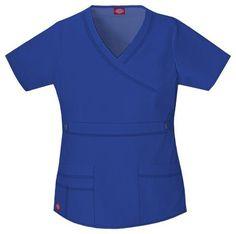 5980e759 Dickies Women's Gen Flex Youtility Mock Wrap Top - Galaxy Blue