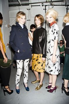 Patterned pants and dresses with a chic retro twist at Derek Lam, Fall 2012