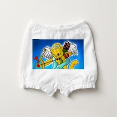 Valentine's Day Ginger Yellow Cupid Cat Diaper Cover - valentines day gifts diy couples special day