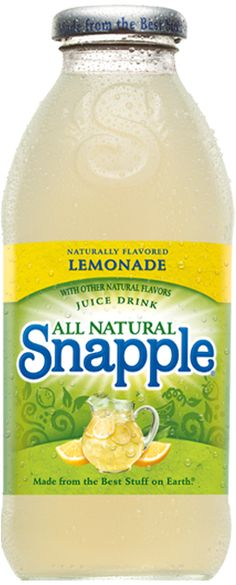 Lemonade - The only thing better than summer is lemonade in the summer. The only thing better than lemonade in summer is lemonade anytime. Tart and tangy, sweet Snapple Lemonade. Made from the Best Stuff on Earth.