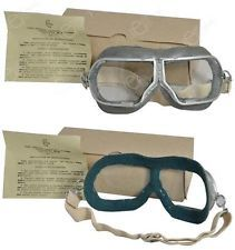 Occhiali mascherina da pilota aeronautica russa 1938 originali, non usati