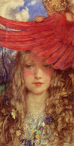 """obsessedwithfairytales:  Eleanor Fortescue Brickdale (1872-1945), """"The Blush"""""""