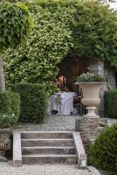 Stefano Scatà Food Lifestyle and Interiors photographer Borgo Santo Pietro Garden Steps, Diy Garden, Dream Garden, Garden Paths, Garden Landscaping, Home And Garden, Outdoor Rooms, Outdoor Dining, Outdoor Gardens
