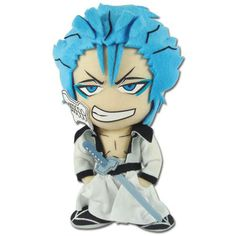 Great Eastern Bleach Grimmjow Plush ** Continue to the product at the image link. (This is an affiliate link) Bleach Figures, Bleach Characters, Fictional Characters, Light Blue Eyes, Vigilante, Anime Store, Anime Conventions, Popular Anime, King Of Kings
