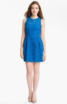 Nanette Lepore 'Treasure' Lace Fit & Flare Dress available at #Nordstrom
