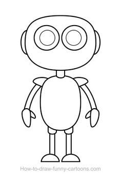 robot draw drawing robots shapes basic head funny drawings simple cool cartoon coloring vector step pages legs pixshark arms kid
