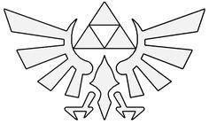 Zelda hyrule crest --> base for embroidery pattern