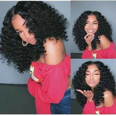Curly Wigs Human Hair Lace Frontal Wigs with Baby Hair Pre-Plucked Brazilian Remy Hair for Black Women 100 Human Hair, Human Hair Wigs, Afro Wigs, Curly Bob Wigs, Curly Weaves, Wig Bob, Curly Braids, Short Wigs, Pelo Afro