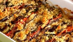 Vegetables baked with crispy bread Baked Vegetables, Veggies, Romanian Food, Romanian Recipes, Food Inspiration, Pork, Food And Drink, Health Fitness, Baking