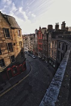 Victoria Street in Edinburgh, Scotland