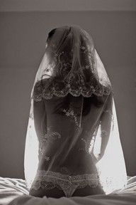I love the partial nude veil shot. There is such a contrast between innocence and a subdued sex appeal.