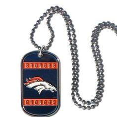Denver Broncos Dog Tag Necklace