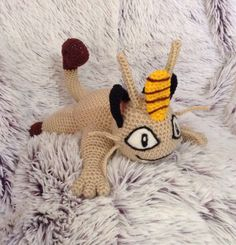 Crocheted Meowth !